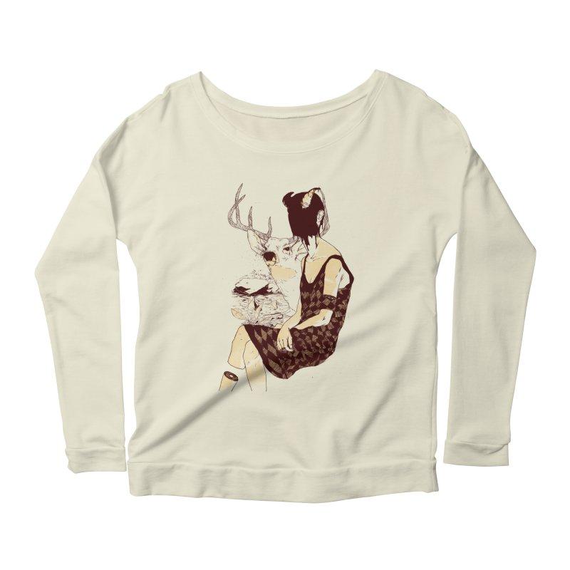 Fragmented Beauty Women's Scoop Neck Longsleeve T-Shirt by hafaell's Artist Shop