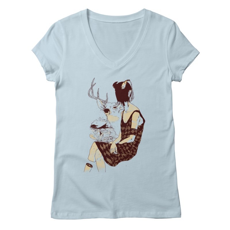 Fragmented Beauty Women's Regular V-Neck by hafaell's Artist Shop