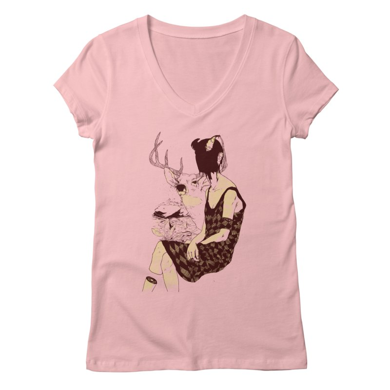 Fragmented Beauty Women's V-Neck by hafaell's Artist Shop