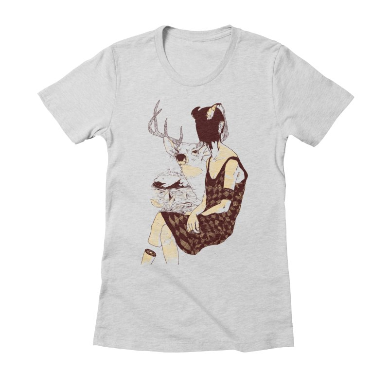 Fragmented Beauty Women's Fitted T-Shirt by hafaell's Artist Shop