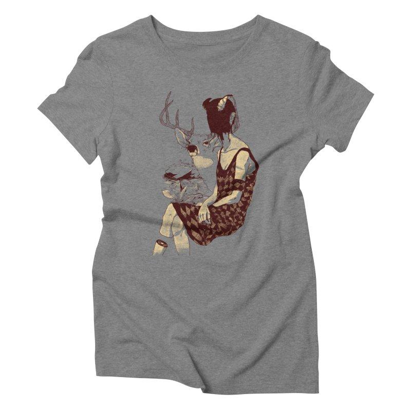Fragmented Beauty Women's Triblend T-shirt by hafaell's Artist Shop