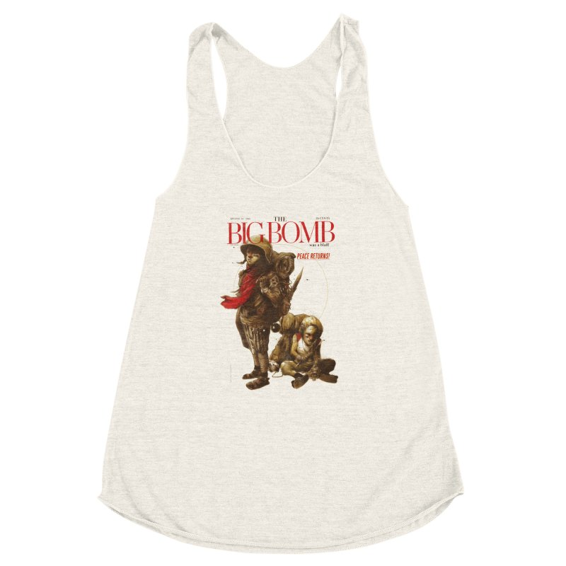 Newborn Army Women's Racerback Triblend Tank by hafaell's Artist Shop