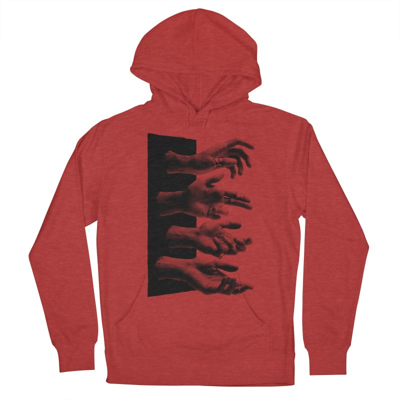 Shy Hands Women's French Terry Pullover Hoody by hafaell's Artist Shop