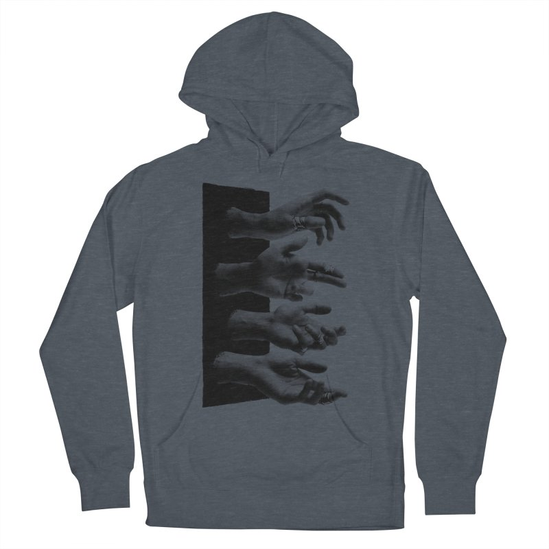 Shy Hands Men's Pullover Hoody by hafaell's Artist Shop