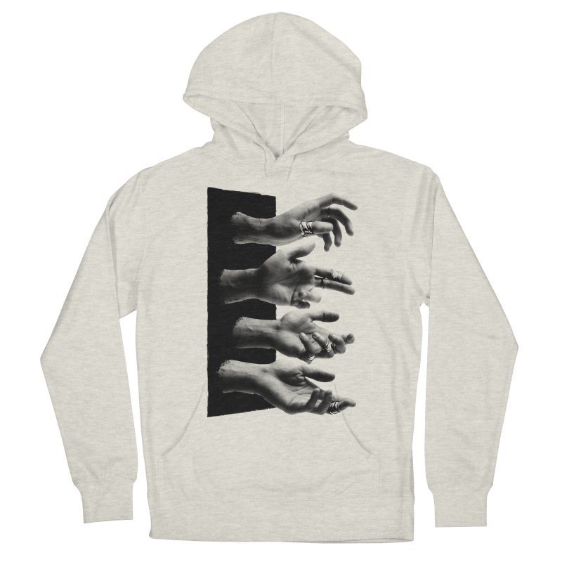 Shy Hands Men's French Terry Pullover Hoody by hafaell's Artist Shop