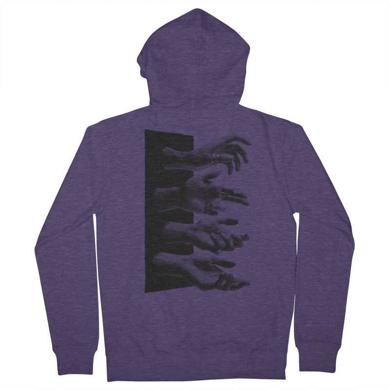 Shy Hands Men's Zip-Up Hoody by hafaell's Artist Shop