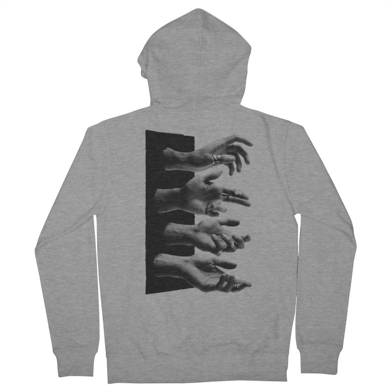 Shy Hands Men's French Terry Zip-Up Hoody by hafaell's Artist Shop