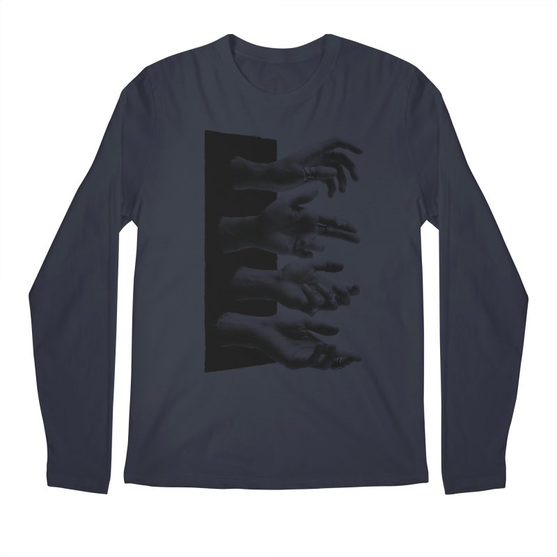 Shy Hands Men's Regular Longsleeve T-Shirt by hafaell's Artist Shop