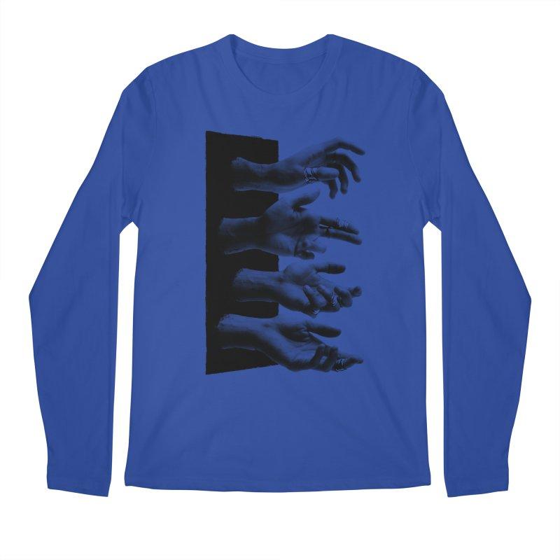 Shy Hands Men's Regular Longsleeve T-Shirt by hafaell's Artist Shop