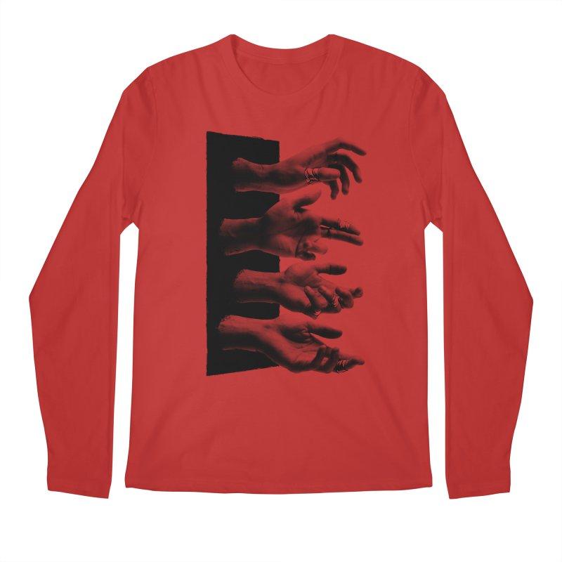 Shy Hands Men's Longsleeve T-Shirt by hafaell's Artist Shop