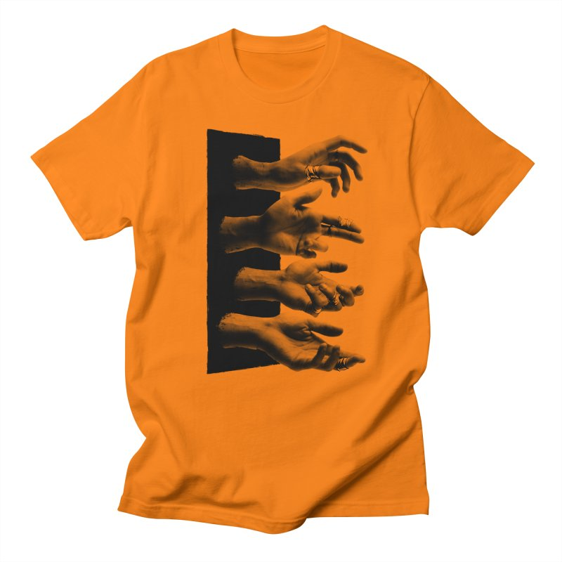 Shy Hands Men's Regular T-Shirt by hafaell's Artist Shop