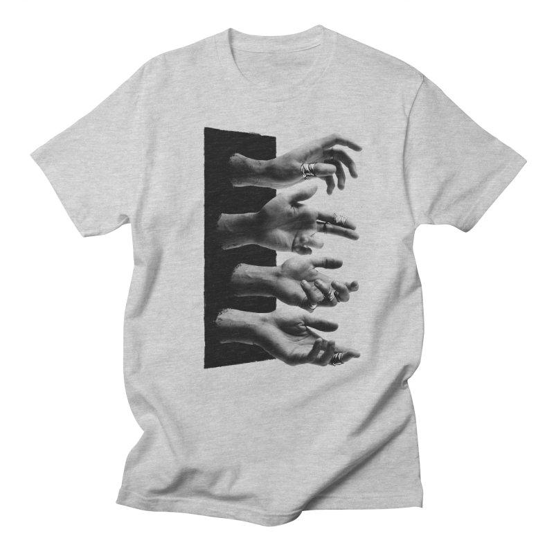Shy Hands Men's T-shirt by hafaell's Artist Shop