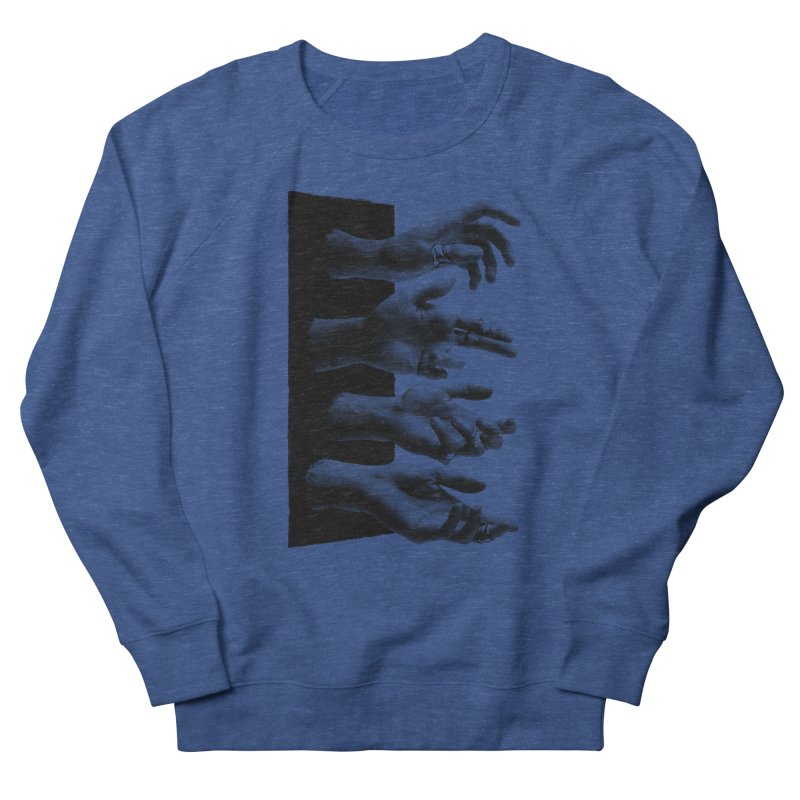 Shy Hands Men's Sweatshirt by hafaell's Artist Shop