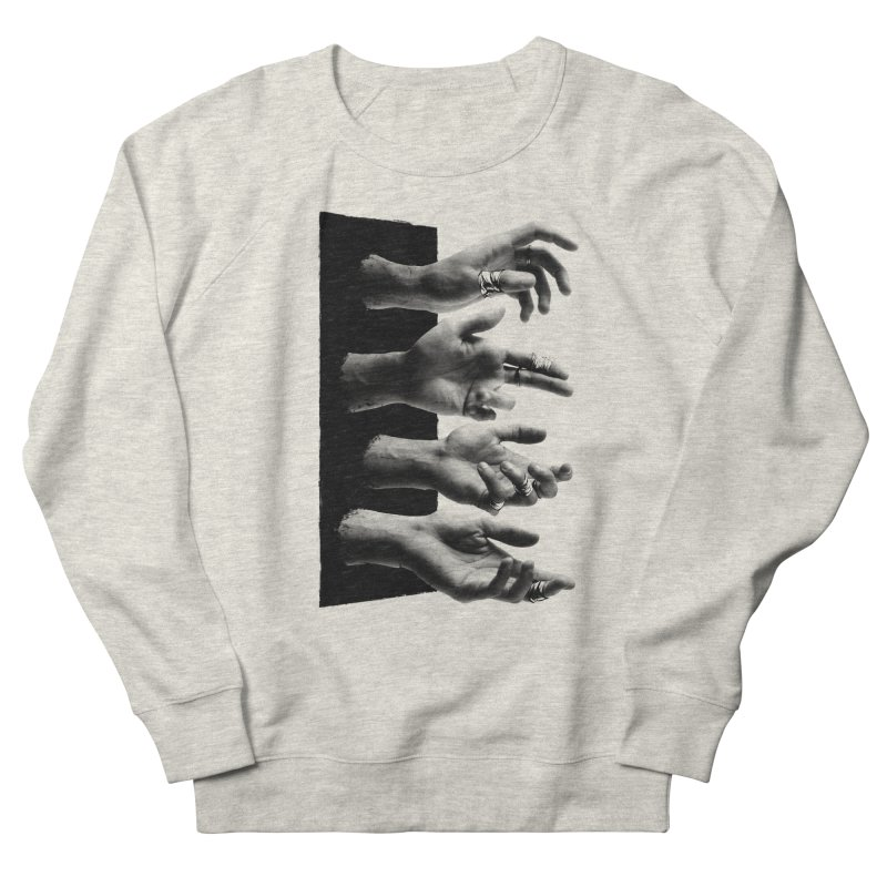 Shy Hands Men's French Terry Sweatshirt by hafaell's Artist Shop