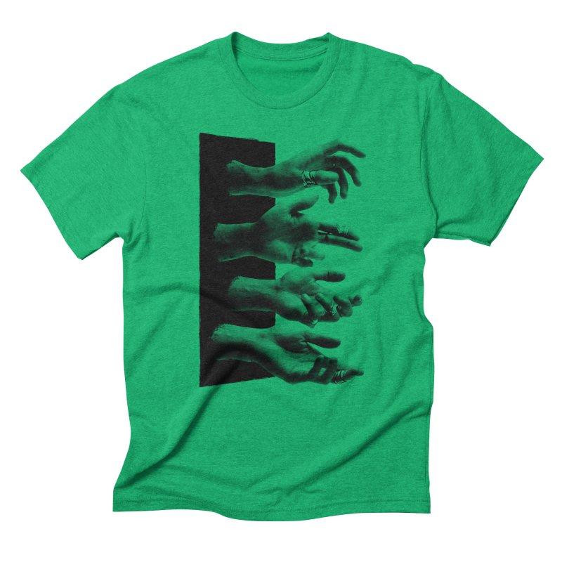 Shy Hands Men's Triblend T-shirt by hafaell's Artist Shop