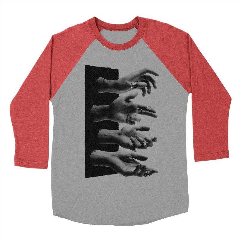 Shy Hands Women's Baseball Triblend Longsleeve T-Shirt by hafaell's Artist Shop