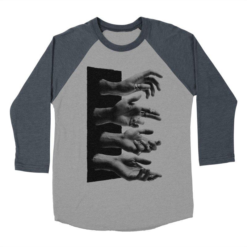 Shy Hands Men's Baseball Triblend Longsleeve T-Shirt by hafaell's Artist Shop