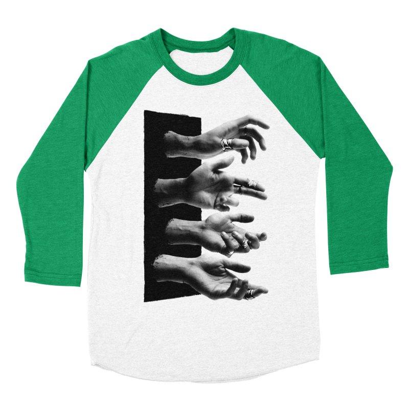 Shy Hands Men's Baseball Triblend T-Shirt by hafaell's Artist Shop