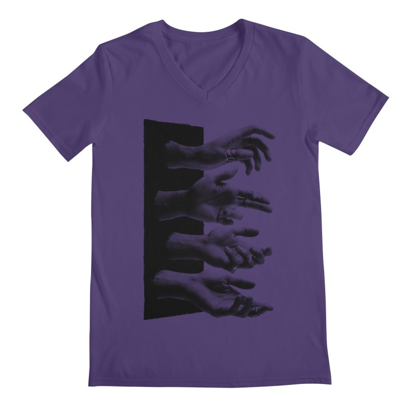 Shy Hands Men's V-Neck by hafaell's Artist Shop