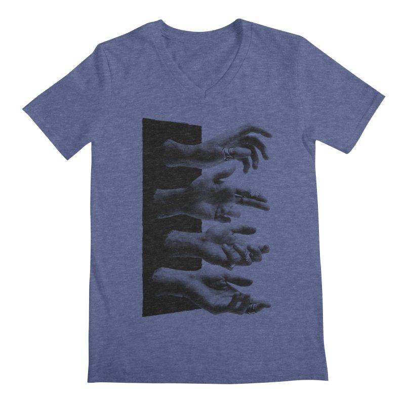 Shy Hands Men's V-Neck by hafaell's Artist Shop