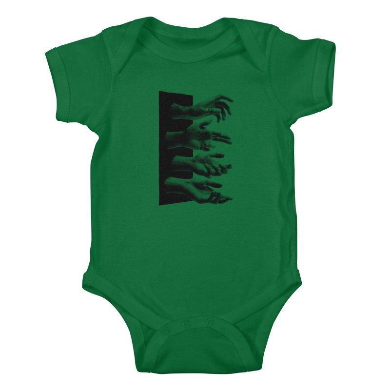 Shy Hands Kids Baby Bodysuit by hafaell's Artist Shop