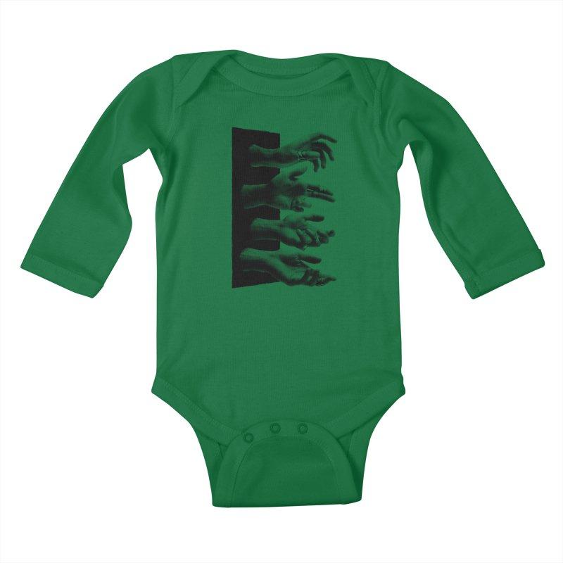 Shy Hands Kids Baby Longsleeve Bodysuit by hafaell's Artist Shop