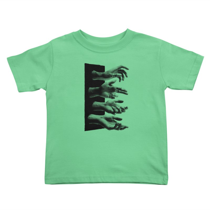 Shy Hands Kids Toddler T-Shirt by hafaell's Artist Shop