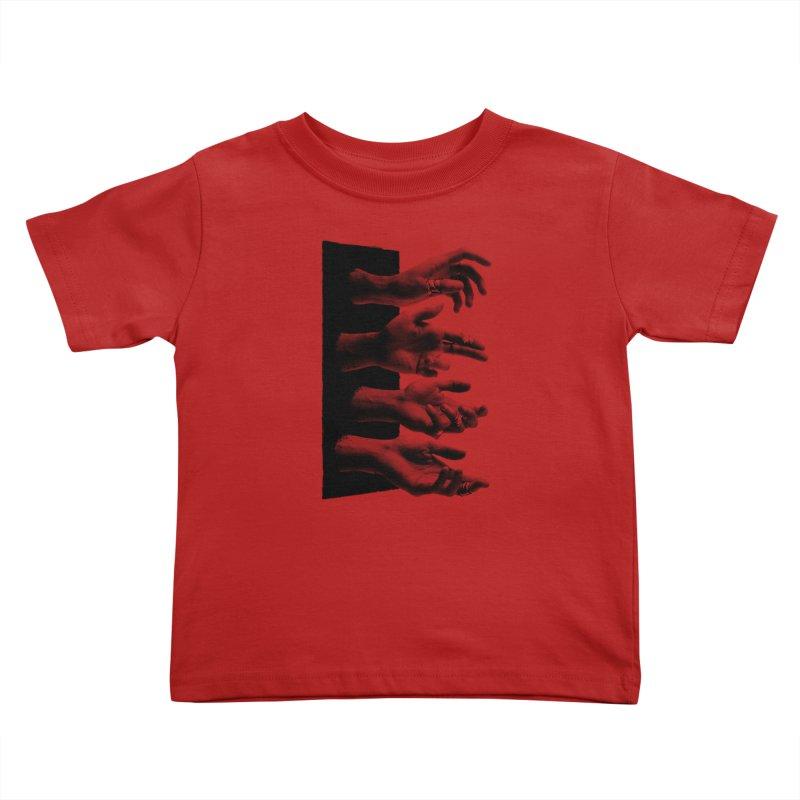 Shy Hands Kids Toddler T-Shirt by hafaell's Artist Shop