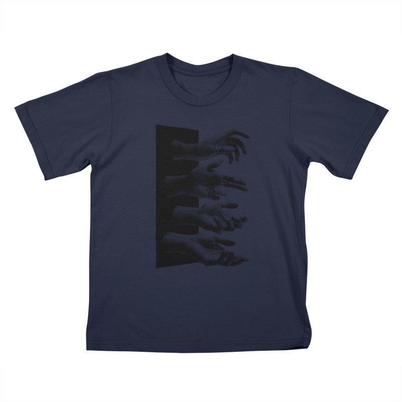 Shy Hands Kids T-Shirt by hafaell's Artist Shop