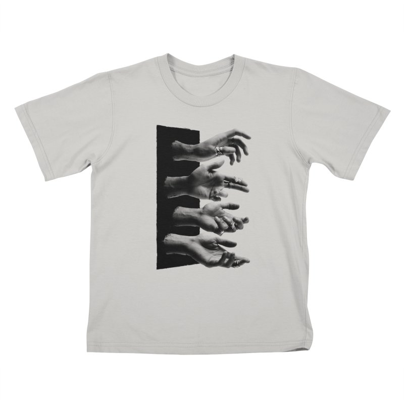 Shy Hands Kids T-shirt by hafaell's Artist Shop
