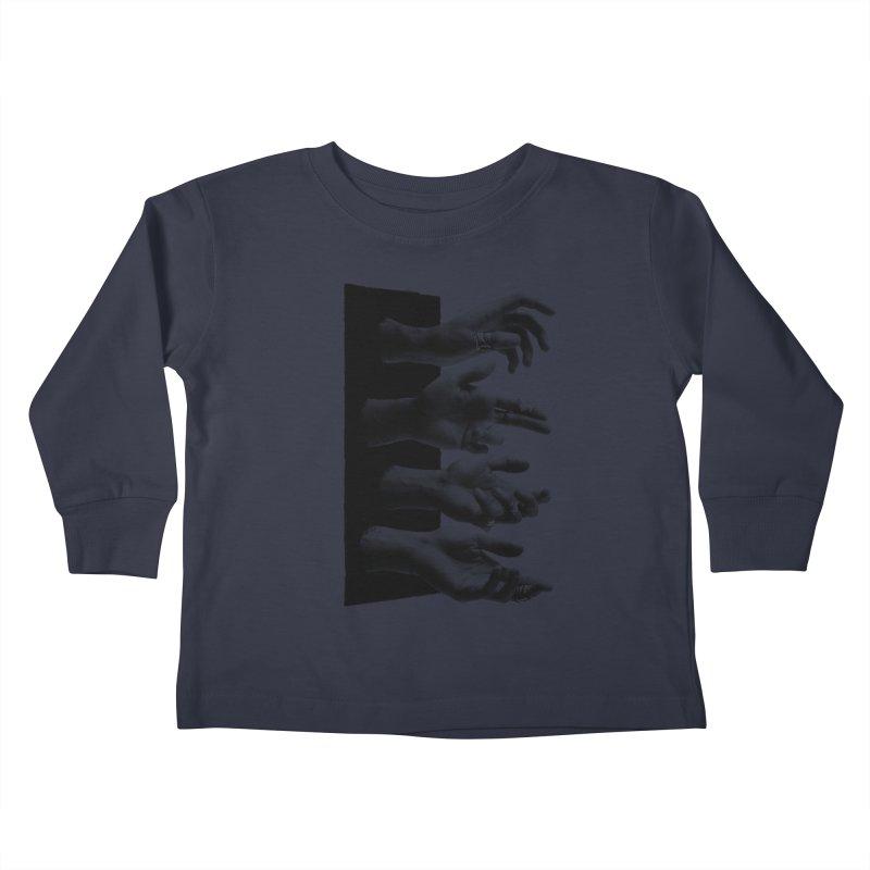 Shy Hands Kids Toddler Longsleeve T-Shirt by hafaell's Artist Shop