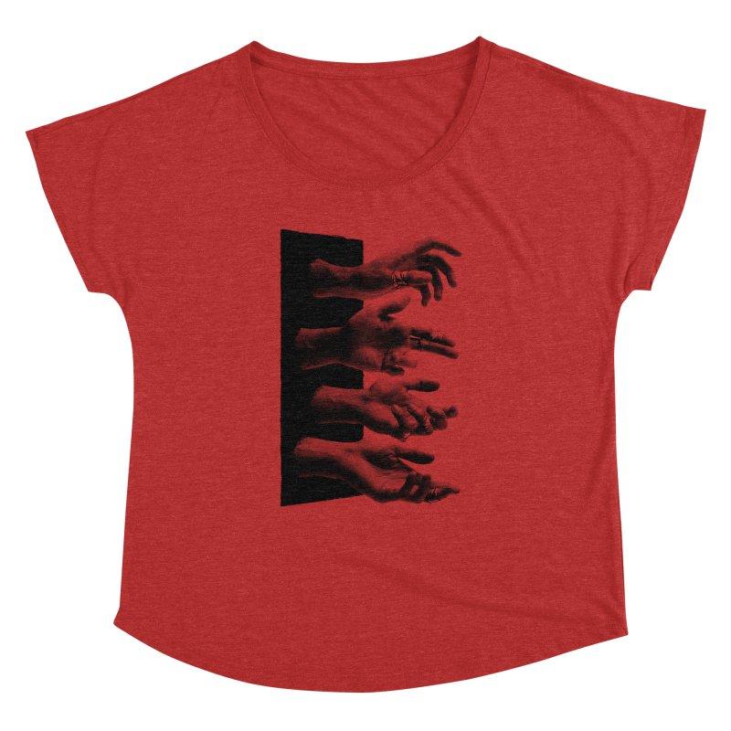 Shy Hands Women's Dolman Scoop Neck by hafaell's Artist Shop