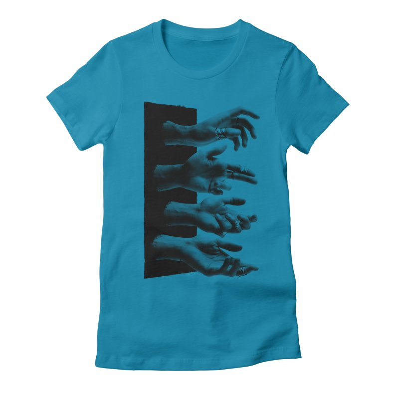 Shy Hands Women's Fitted T-Shirt by hafaell's Artist Shop