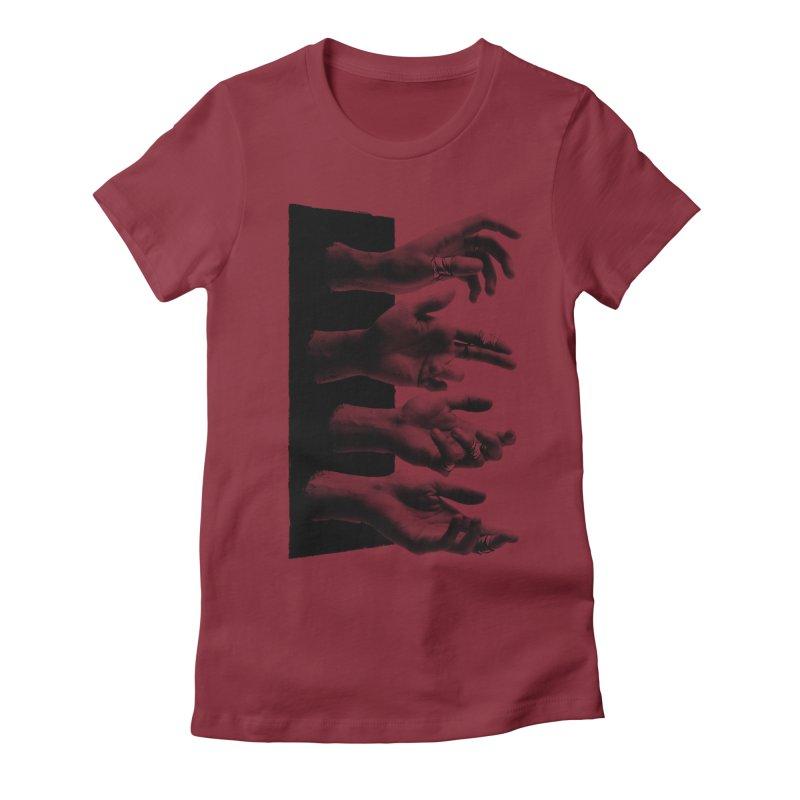 Shy Hands Women's Fitted T-Shirt by hafaell's Artist Shop