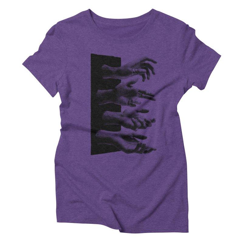 Shy Hands Women's Triblend T-shirt by hafaell's Artist Shop