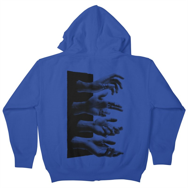 Shy Hands Kids Zip-Up Hoody by hafaell's Artist Shop