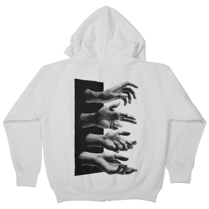 Shy Hands Kids Zip-Up Hoody by hafaell's Artist Shop