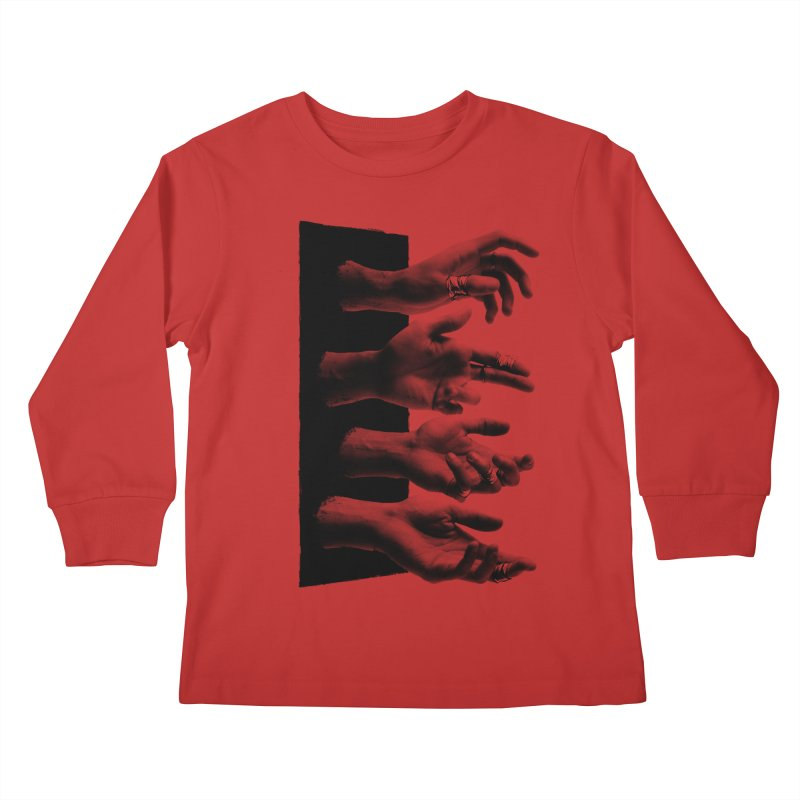 Shy Hands Kids Longsleeve T-Shirt by hafaell's Artist Shop