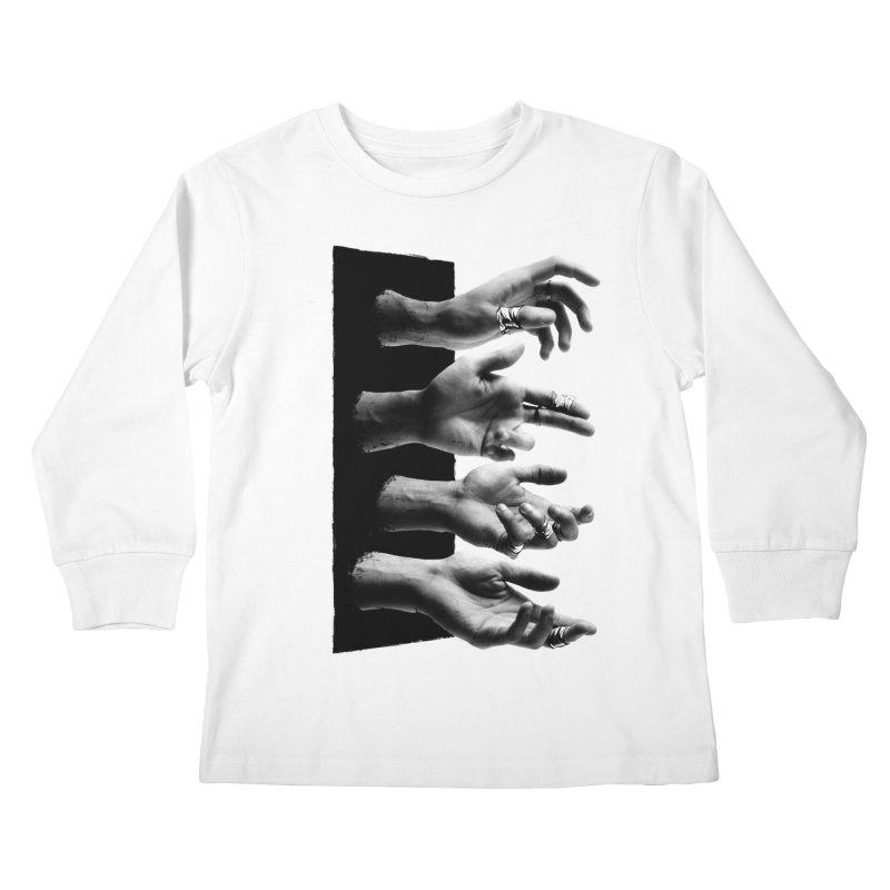 Shy Hands Kids Longsleeve T-Shirt by hafaell's Artist Shop
