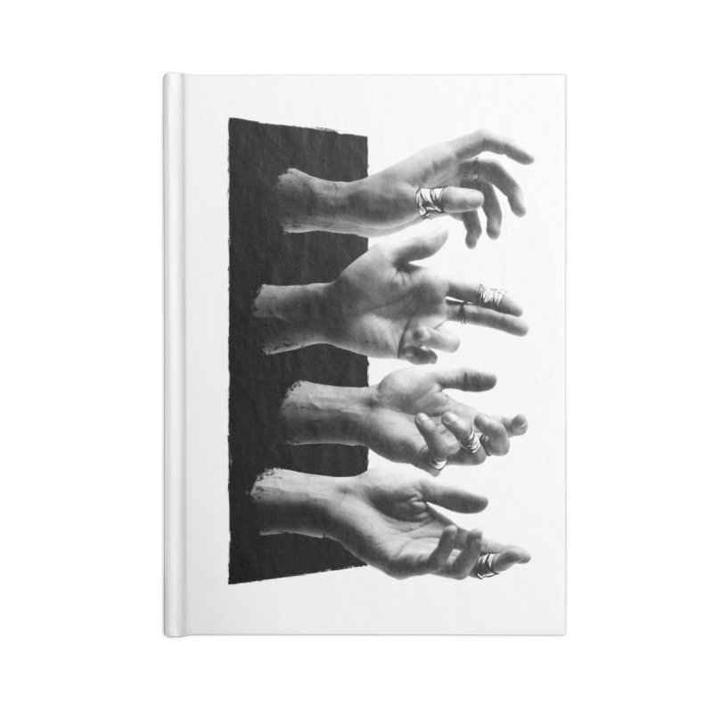 Shy Hands Accessories Blank Journal Notebook by hafaell's Artist Shop
