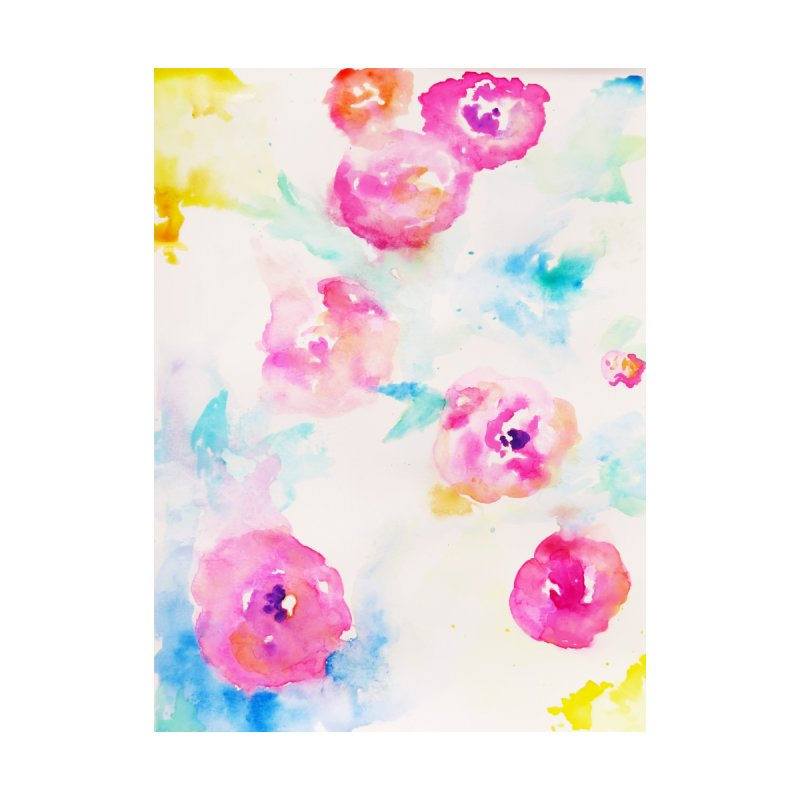 Watercolor Flowers by H A F S A H.