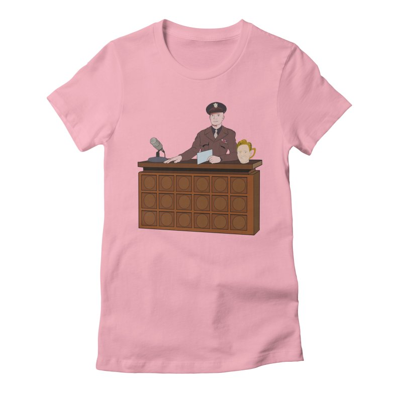 Late Night with Ike Eisenhower Women's Fitted T-Shirt by Hail to the Tees