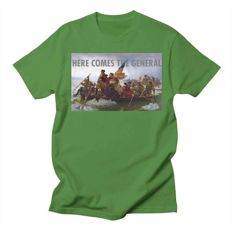 George Washington: Here Comes the General Men's Regular T-Shirt by Hail to the Tees