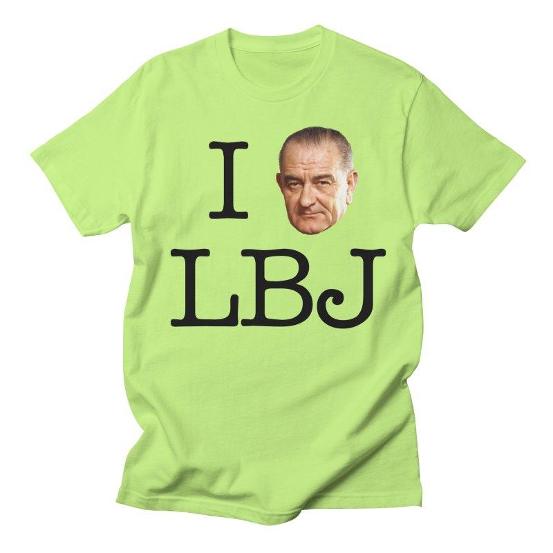 I (LBJ) LBJ Men's Regular T-Shirt by Hail to the Tees