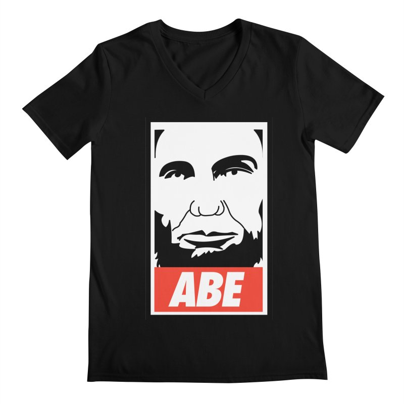 "Abraham Lincoln - ""Obeybraham"" Men's Regular V-Neck by Hail to the Tees"
