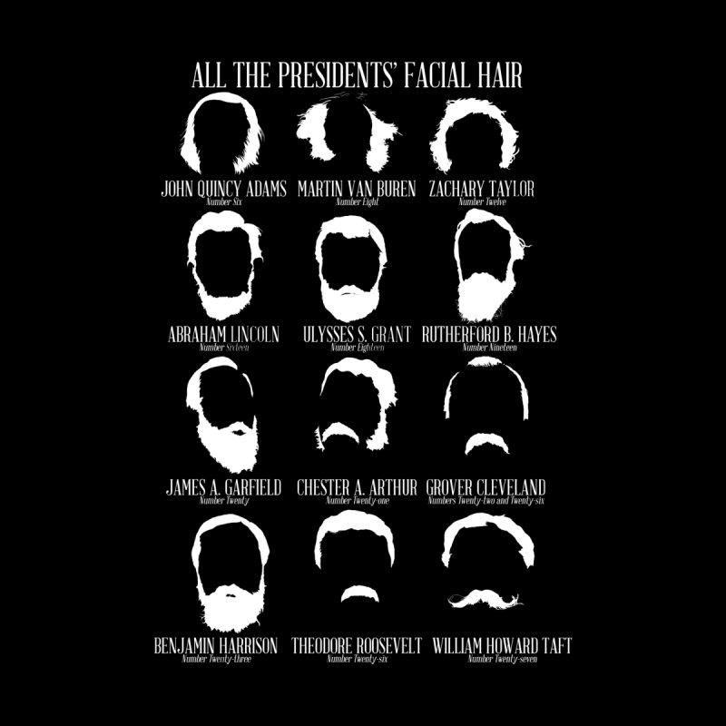 All the Presidents' Facial Hair by Hail to the Tees