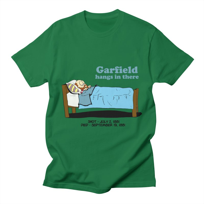 """James Garfield - """"Garfield Hangs in There"""" Men's T-Shirt by Hail to the Tees"""