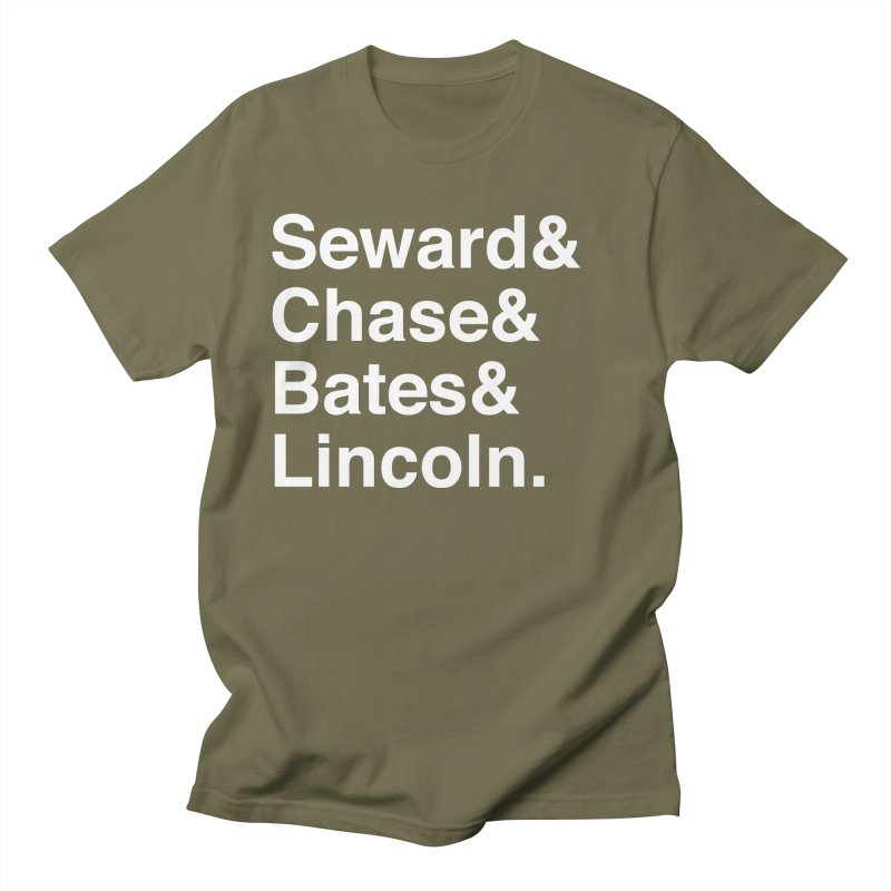 """Abraham Lincoln - """"Team of Rivals Helvetica"""" Men's T-Shirt by Hail to the Tees"""