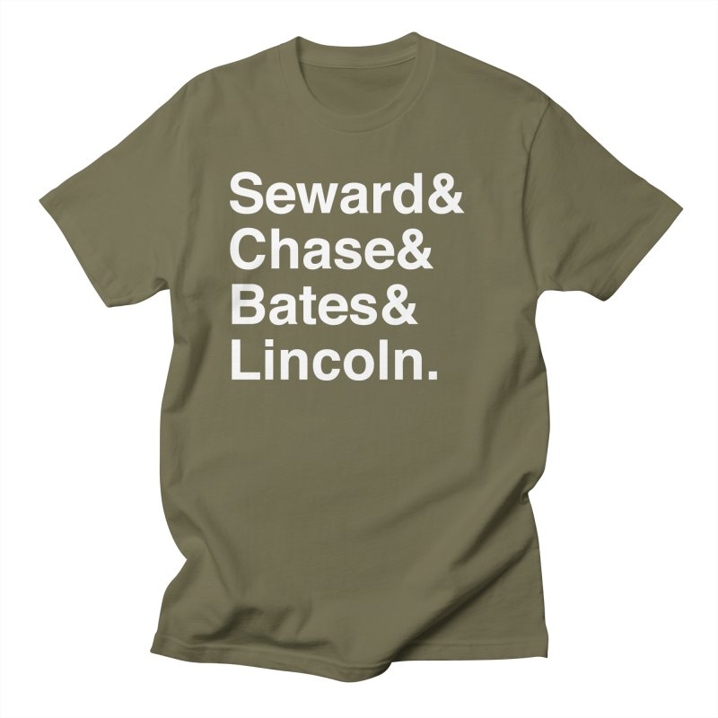 """Abraham Lincoln - """"Team of Rivals Helvetica"""" Men's Regular T-Shirt by Hail to the Tees"""