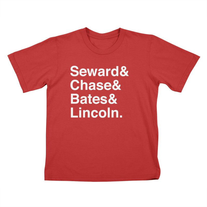 """Abraham Lincoln - """"Team of Rivals Helvetica"""" Kids T-Shirt by Hail to the Tees"""